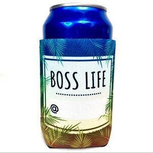 BOSS LIFE koozie Palm tree / business promoter